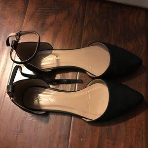 Ankle Strap Black Flat